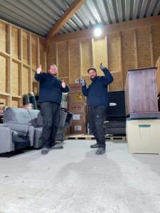 Nordsee Umzüge Mitarbeiter Thumbs Up